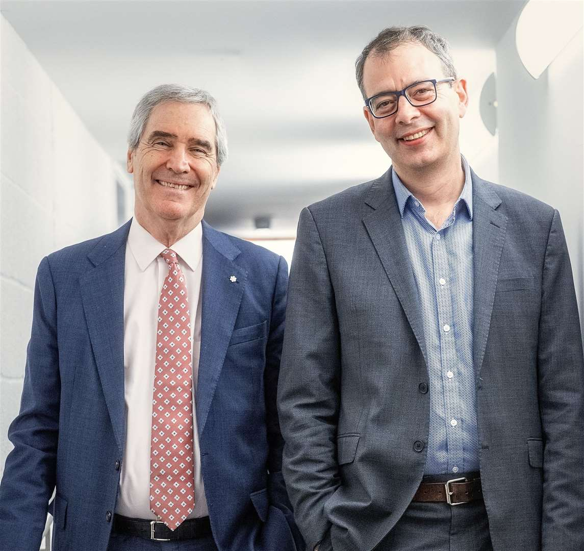 Michael Ignatieff with David Runciman at the Babbage Lecture Theatre, February 2020. Picture: Martin Bond