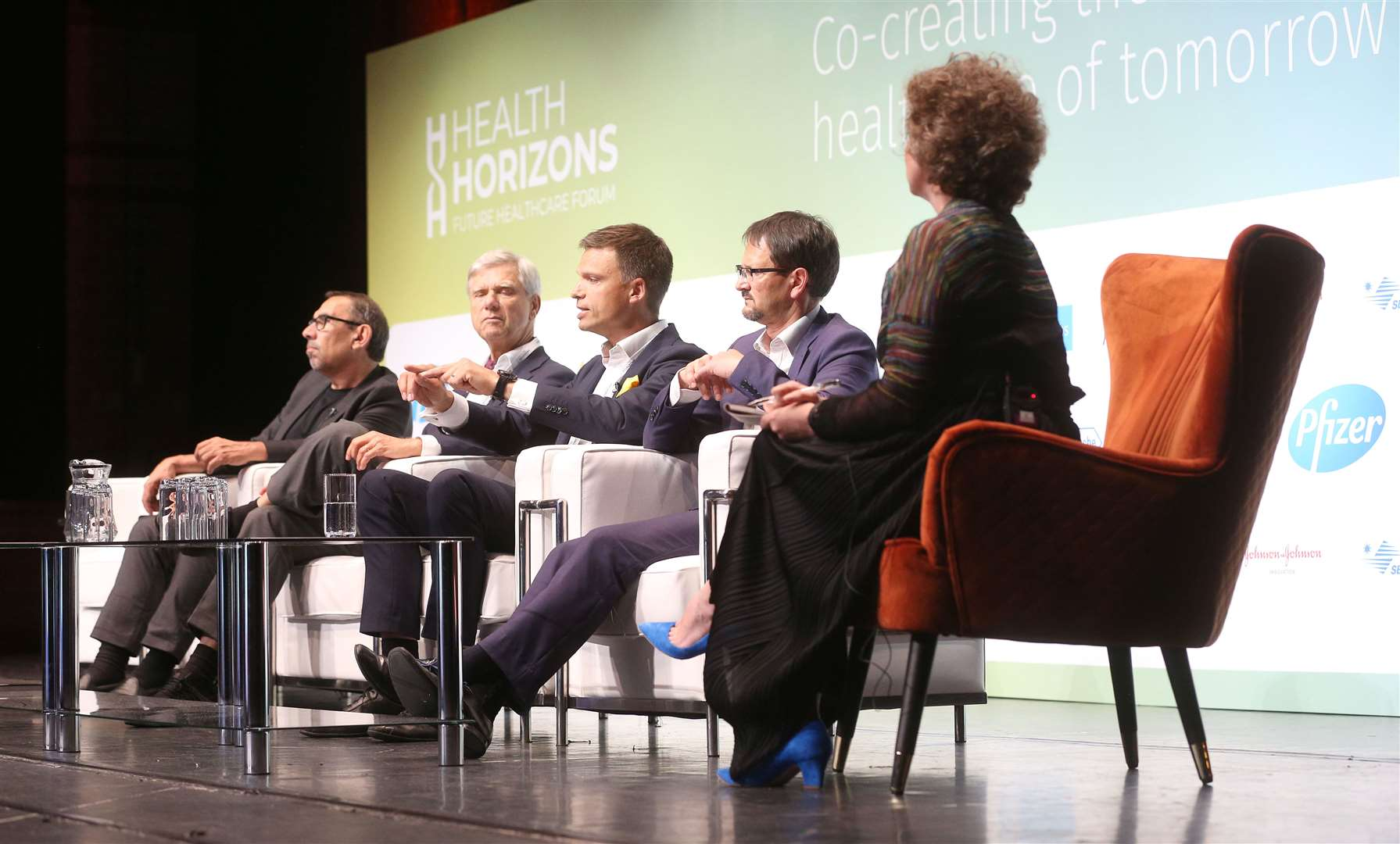 A discussion at the Health Horizons Future Healthcare Forum with Tony Kouzarides, far left. Picture: Richard Marsham