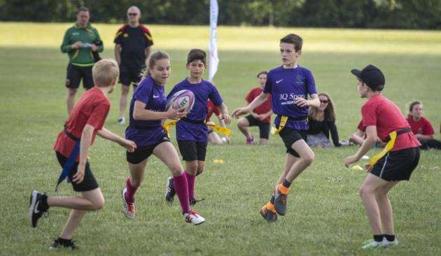 South Cambs SSP Tag Rugby finals, Cambridge Rugby Football Club, Grantchester Rd, Cambridge. Picture: Keith Heppell