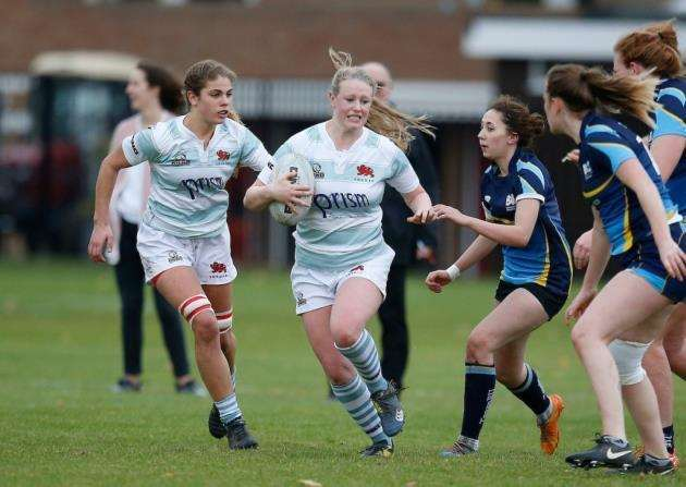 Jenny Orriss scored one of Cambridge University womens tries against University of Nottingham. Picture: Matt Impey/Wired Photos