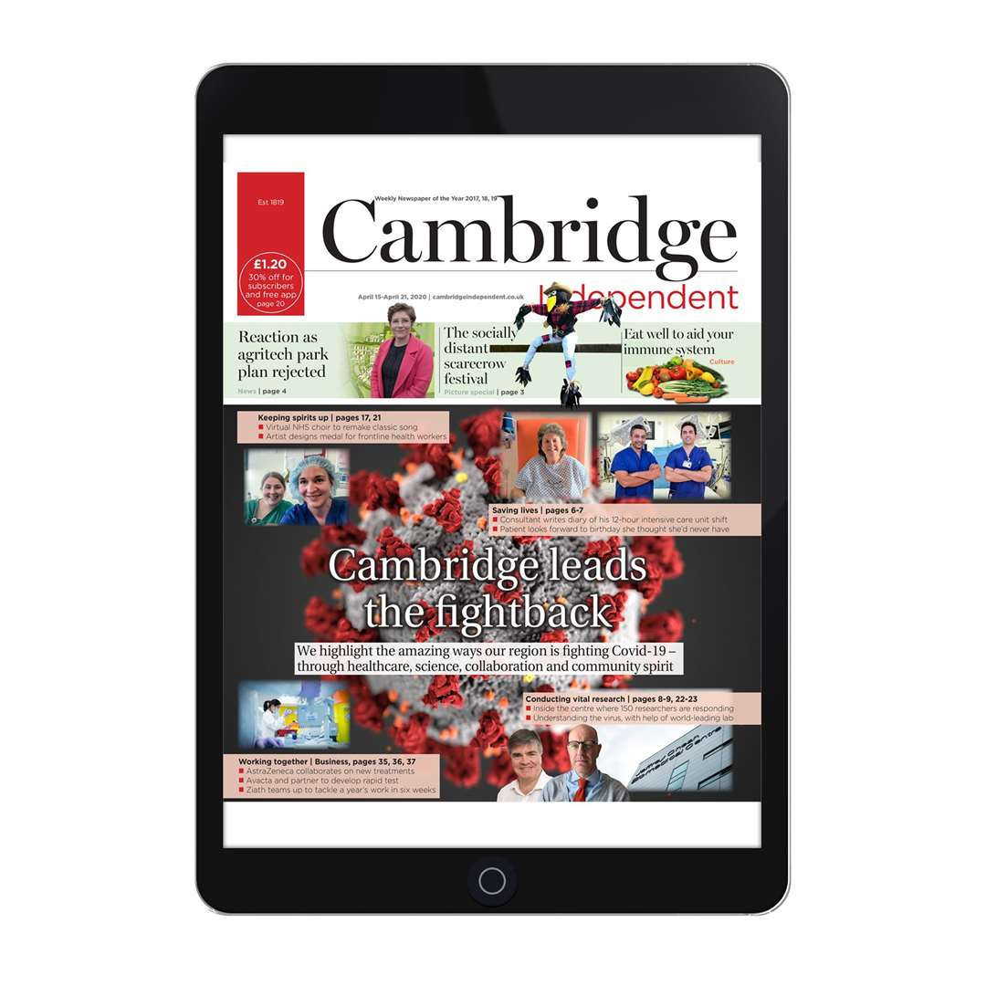 You can read our digital edition on your tablet through our app