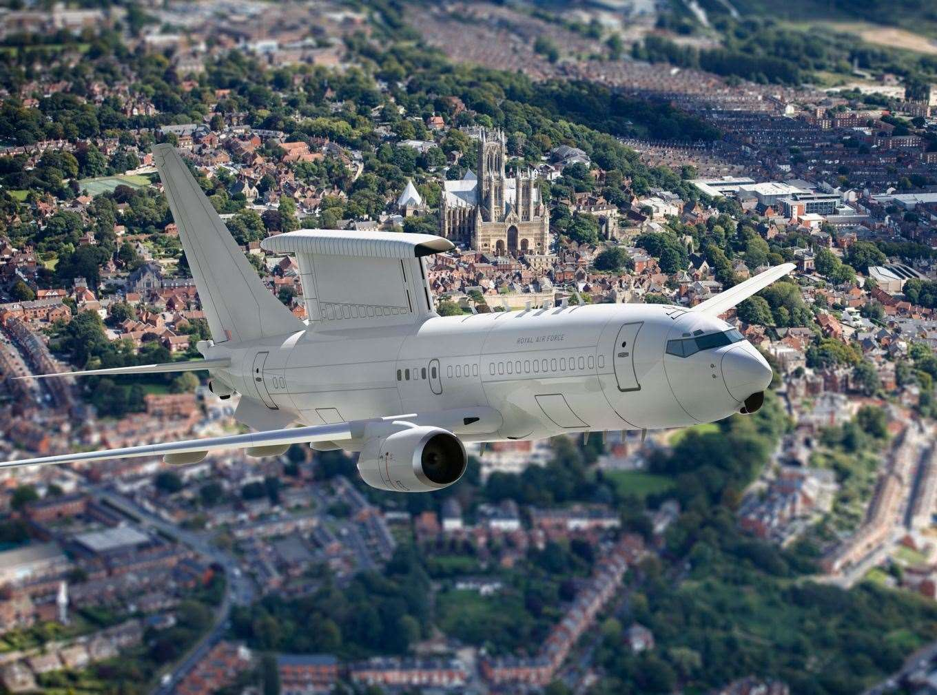 An artist's impression of the E-7 Wedgetail aircraft. Image: RAF (8055210)