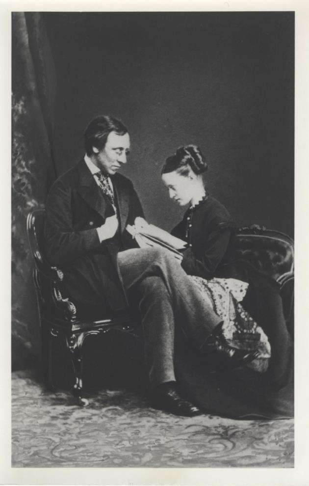 Millicent Fawcett with her husband Henry Fawcett in 1868.