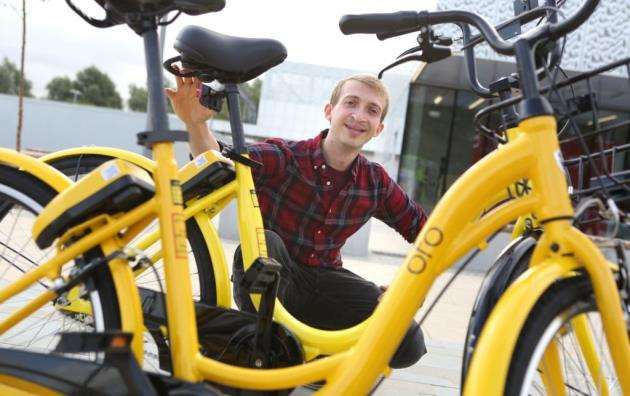 James Timmins, Ofo operations manager. Picture: Richard Marsham