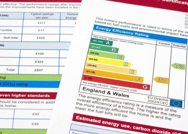 Energy performance certificate from new home in UK