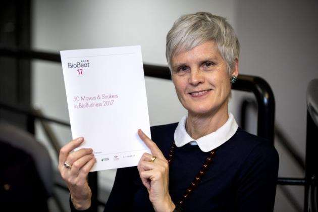 Miranda Weston-Smith, of BioBeat, with the report at St Johns Innovation Centre in Cambridge. Picture: Keith Heppell