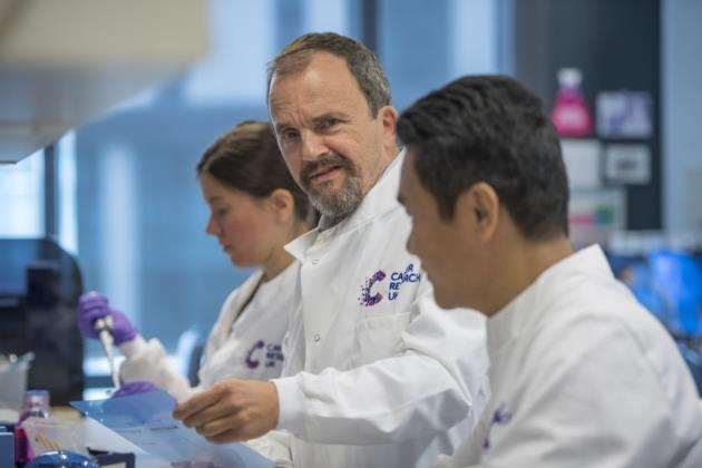Professor Kevin Brindle at work at the Cancer Research UK Cambridge Institute. Picture: Keith Heppell