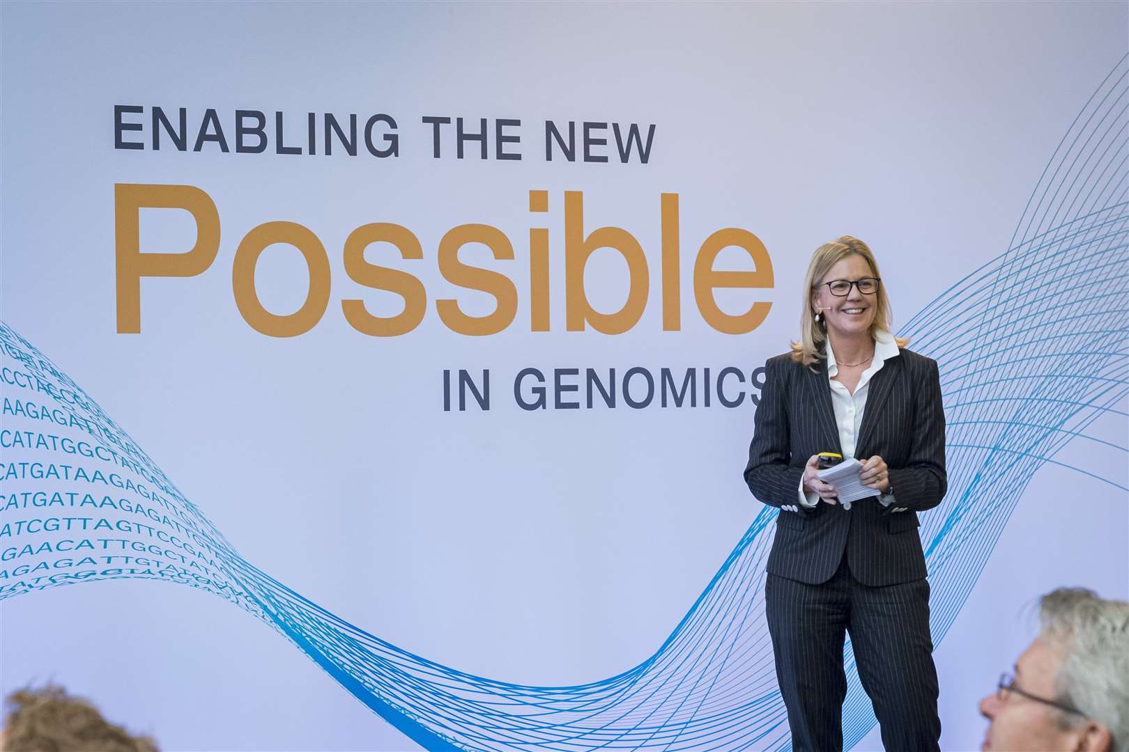 Paula Dowdy, SVP & GM, EMEA, at Illumina. Picture: Keith Heppell