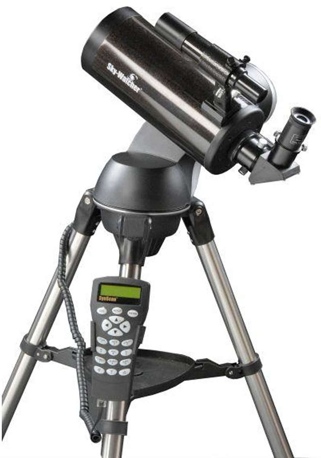 A Sky-Watcher catadioptric telescope with a computerised alz-az GoTo mount
