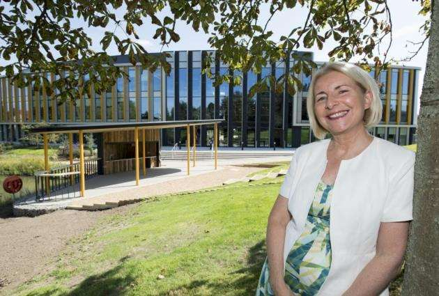 Jeanette Walker, the first Director of Cambridge Science Park, outside The Bradfield Centre. Picture: Keith Heppell