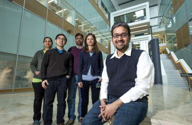 Dr M Madan Babu and members of his group at the MRC Laboratory of Molecular Biology. Picture: Keith Heppell