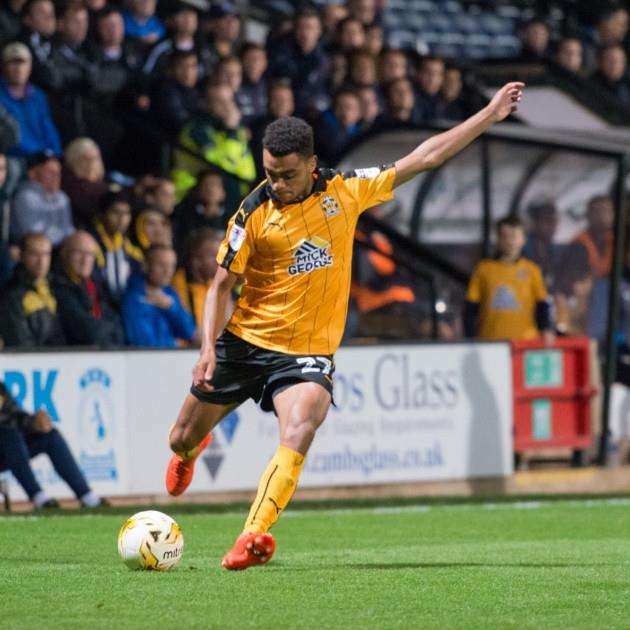 Cambridge United youngster Leon Davies
