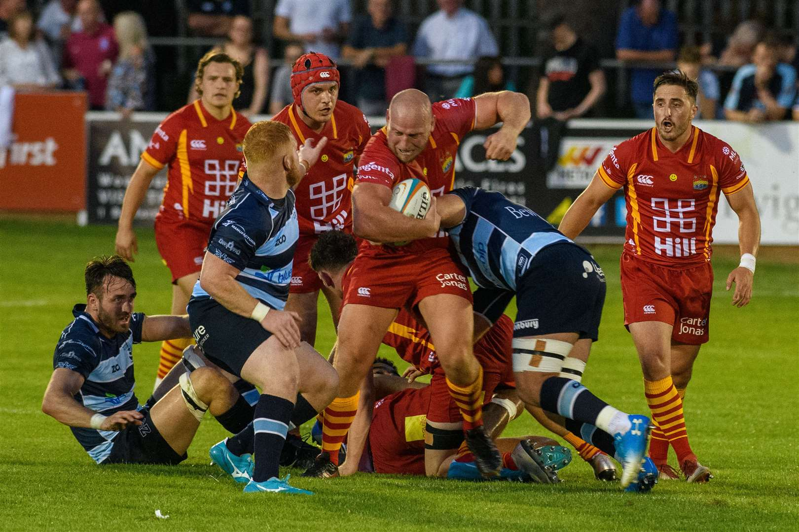 Mike Mayhew in action for Cambridge against Bedford Blues. Picture: Chris Fell (15748729)