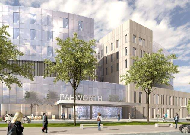 Papworth Hospital - artist impression of south entrance approach