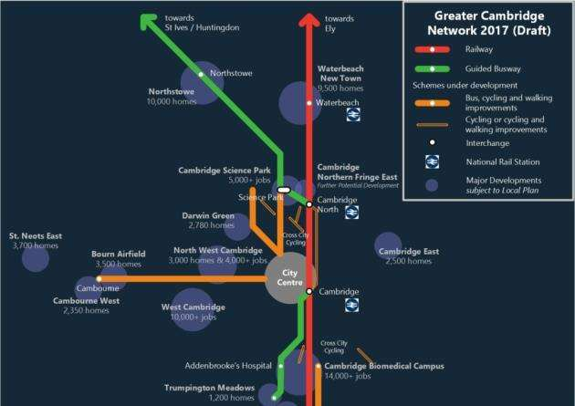 Greater Cambridge Partnership transport network