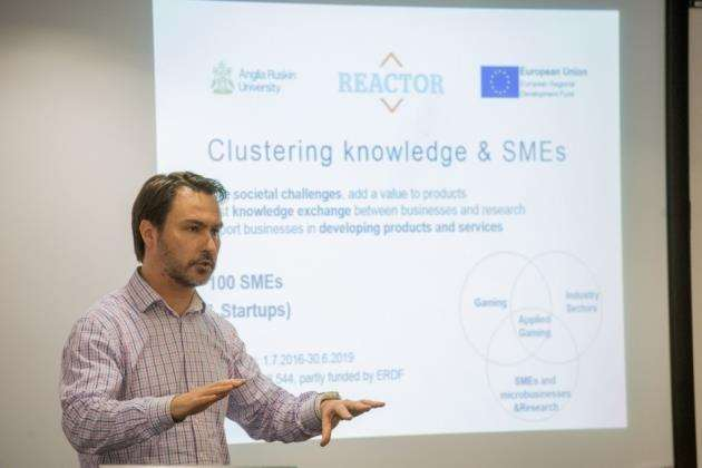 Dr Jan Storgards, REACTOR project director. speaking at the Incubator launch. Picture: Matthew Power Photographer