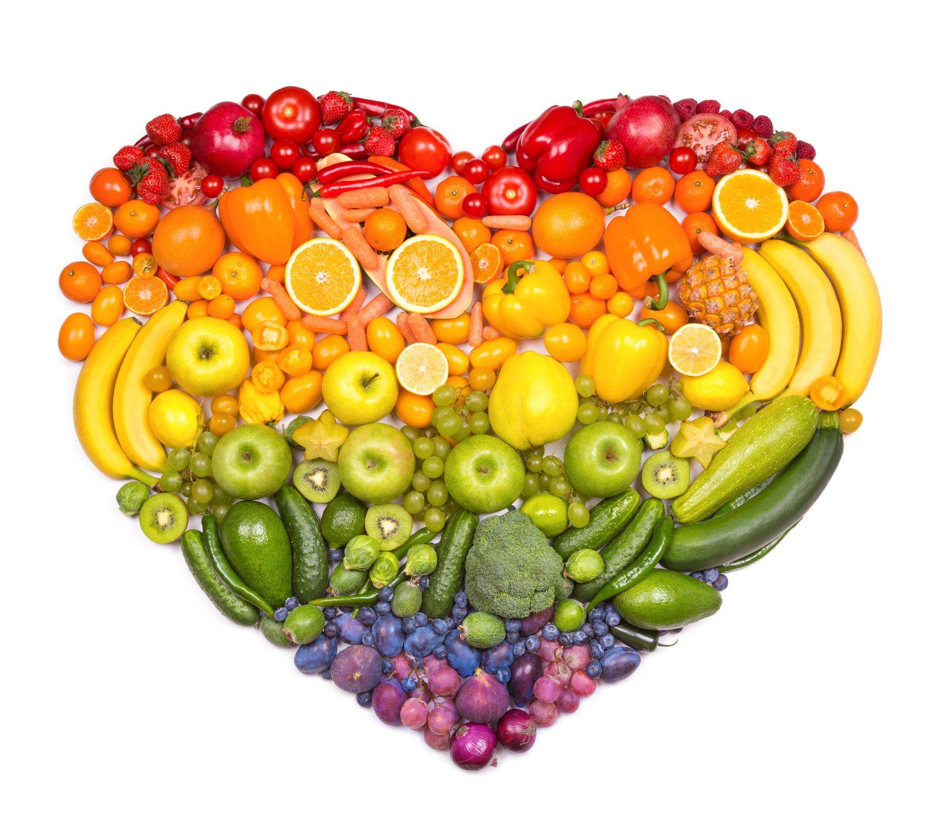 Eat a rainbow of fruits and vegetables to feel gooood!