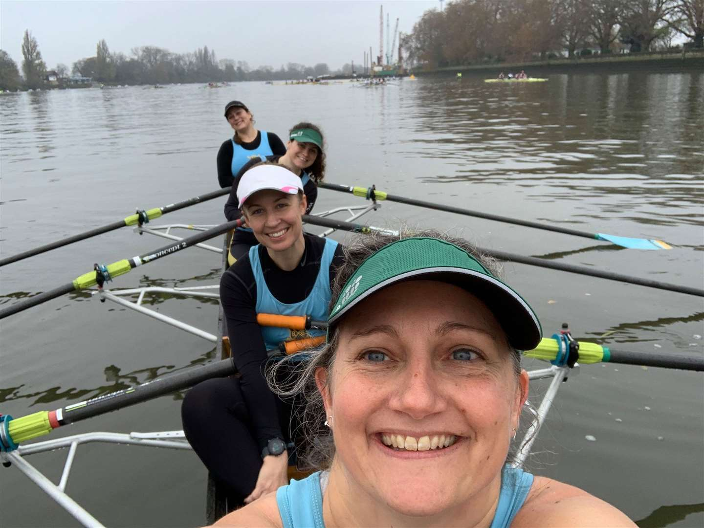 Cambridge 99 crew at the Veterans Fours Head. Picture: Helena Perez Valle (22566868)