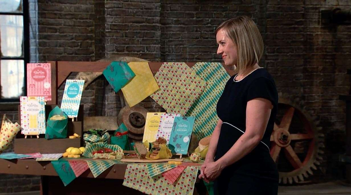 Kath Austin on Dragons' Den. Picture: BBC Studios