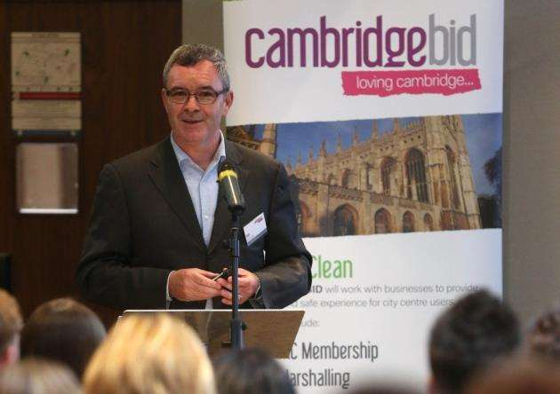 Cambridge BID Chairman Ian Sandison speaks during the AGM and summer business event at the Cambridge City Hotel.