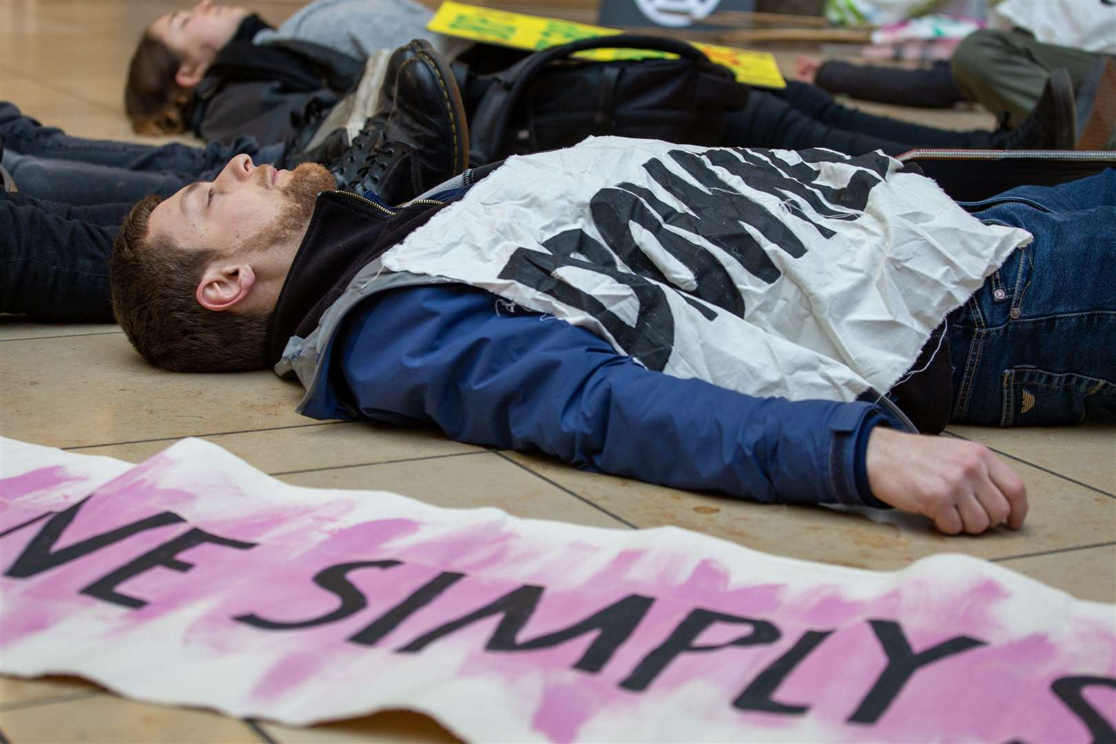 A previous die-in by XR Cambridge, marking Black Friday. Picture: Jeremy Peters