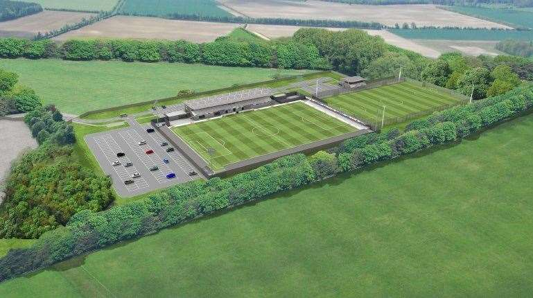 Artist impression of the Cambridge City FC Sawston football ground. (36628231)