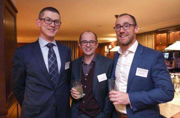 From left, David Clark, Ean Davies and Richard Bray at the Appleyard Lees reception. Picture: Richard Marsham