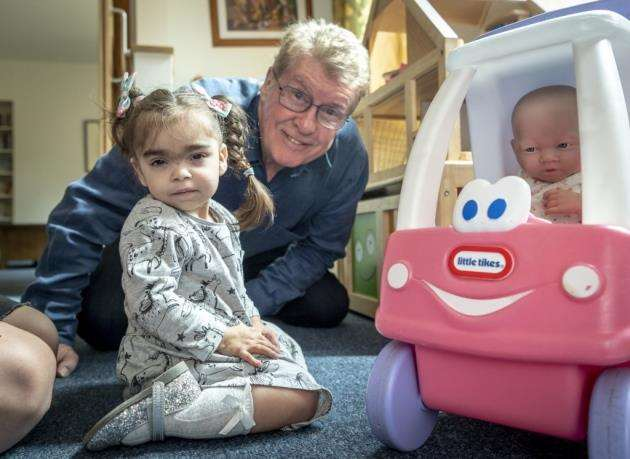 Michael Crawford at Acorn House with Bella Cole, 2. Picture: Keith Heppell