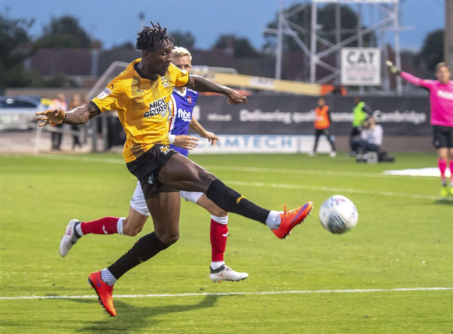 Ade Azeez has left Cambridge United to join Newport County.