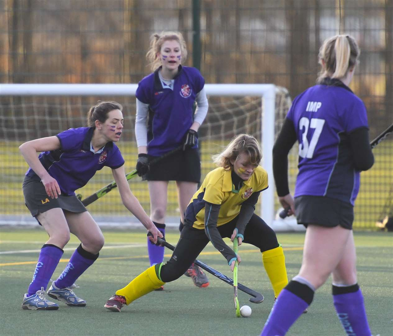 Cambridge South's Polly Lockyer, in yellow . Picture: Keith Heppell