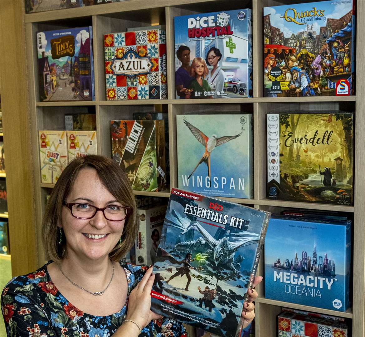 Charlotte Staffer of Heffers Bookshop's games departments reveals the top ten board games flying off the shelves. Picture: Keith Heppell.