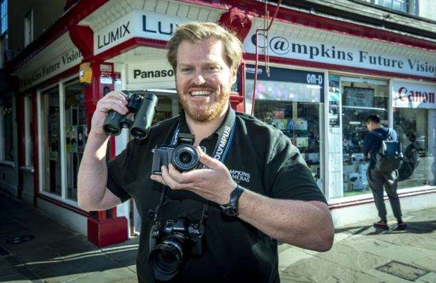 Owner Owen Howell, outside Campkins on Kings Parade. Picture: Keith Heppell