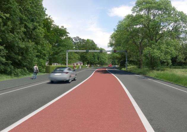 Greater Cambridge Partnership Cambourne to Cambridge busway - Route B visualisation