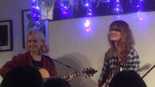 Kitty MacFarlane and Jess Morgan on stage at the Cambridge Folk Club. Picture: Adrian Peel