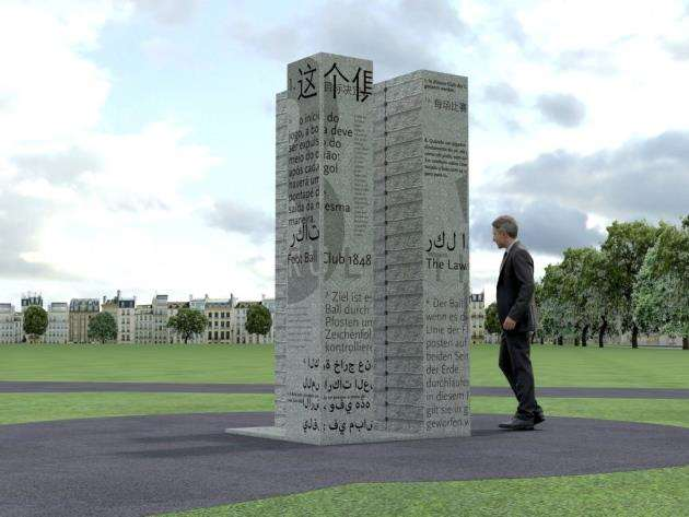 How the monument on Parkers Piece will look