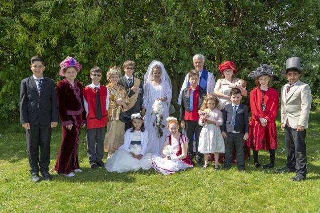 The royal wedding at Icknield Primary School, Sawston. Picture: Keith Heppell