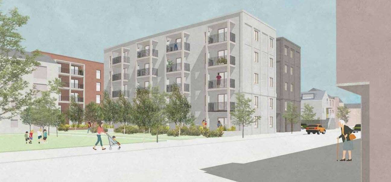 An artist's impression of plans for 75 homes at Orchard Park. Picture: Mole Architects/Cambridge Investment Partnership (42399350)