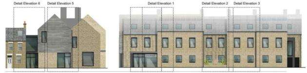 The elevation drawings for Cambridges proposed easyHotel