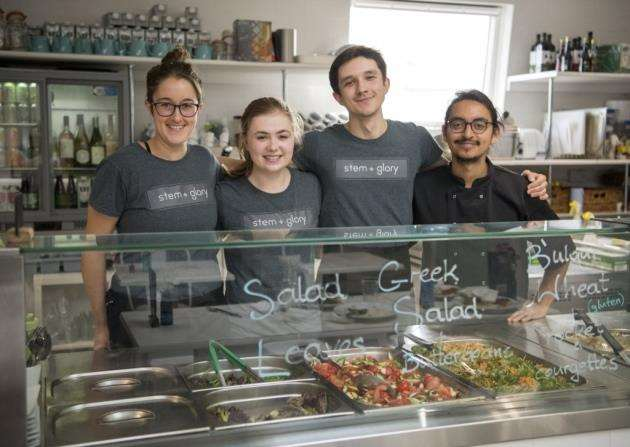 Staff at Stem and Glory, Mitchams Corner, Chesterton Rd, Cambridge are looking forward to opening their new location on Kings Street., from left Naomi Roach, Alice Barham, Adam Madejczyk and Amalasiddhi Silva, Picture: Keith Heppell