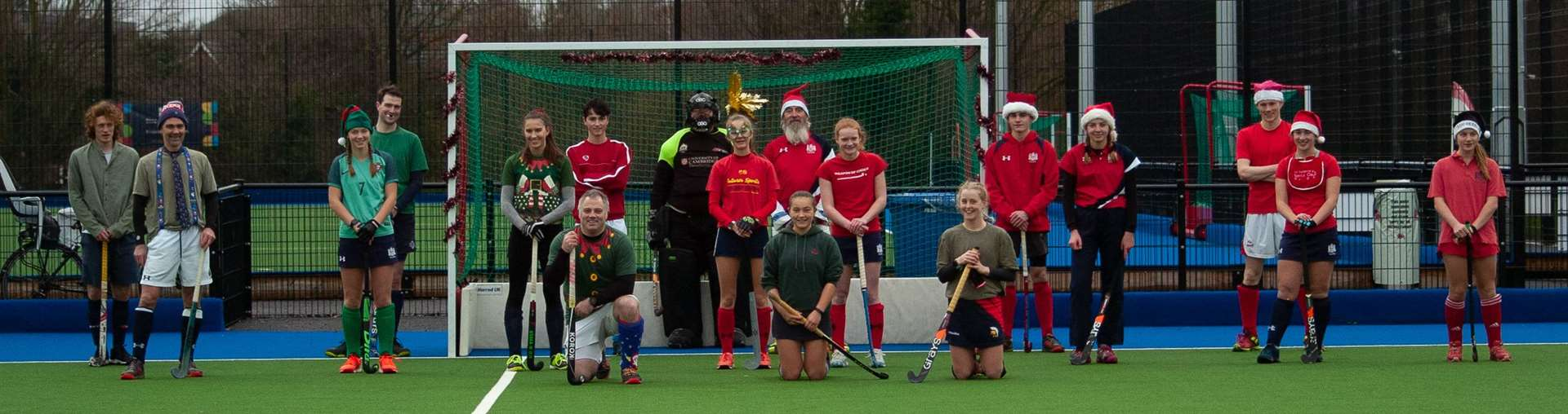 Cambridge City had 19 players turn out for a mixed Elves v Santas match at Wilberforce Road. Picture: Simon Webb (43549978)
