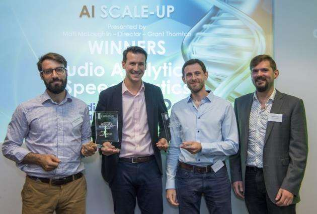 Speechmatics was joint winner in the Artificial Intelligence scale-up category with Audio Analytic at the Cambridge Independents Entrepreneurial Science and Technology Awards. Picture: Keith Heppell