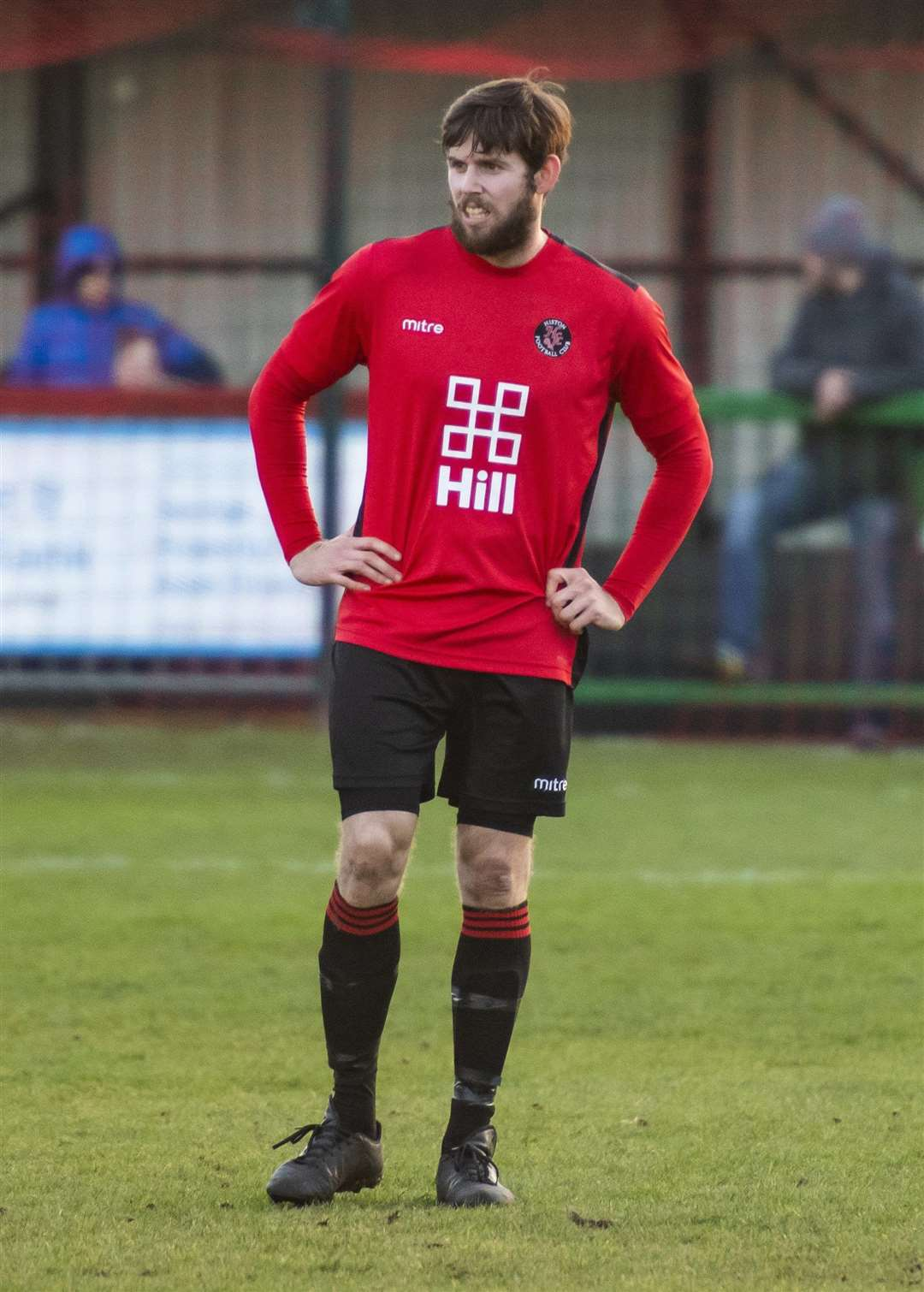 Dan Brown scored twice for Histon against Leverstock Green