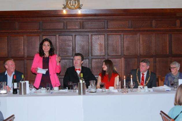 Heidi Allen MP speaking at the Disability Cambridgeshire fundraising dinner. Picture: Gerald Cranwell