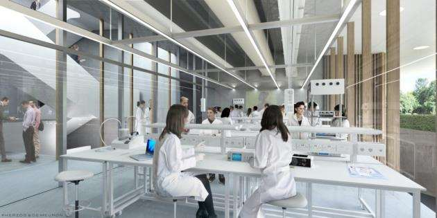 An artists impression of the new ground floor teaching lab at AstraZeneca