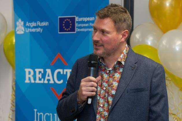 Pete Jenkins at the launch of the REACTOR Incubator Picture: Matthew Power Photography