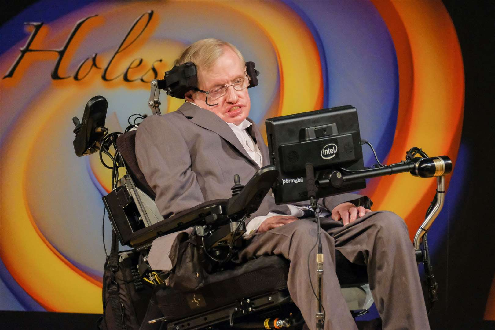 Professor Stephen Hawking shared his own personal story at the inaugural RAREsummit in 2015. Picture: Sir Cam