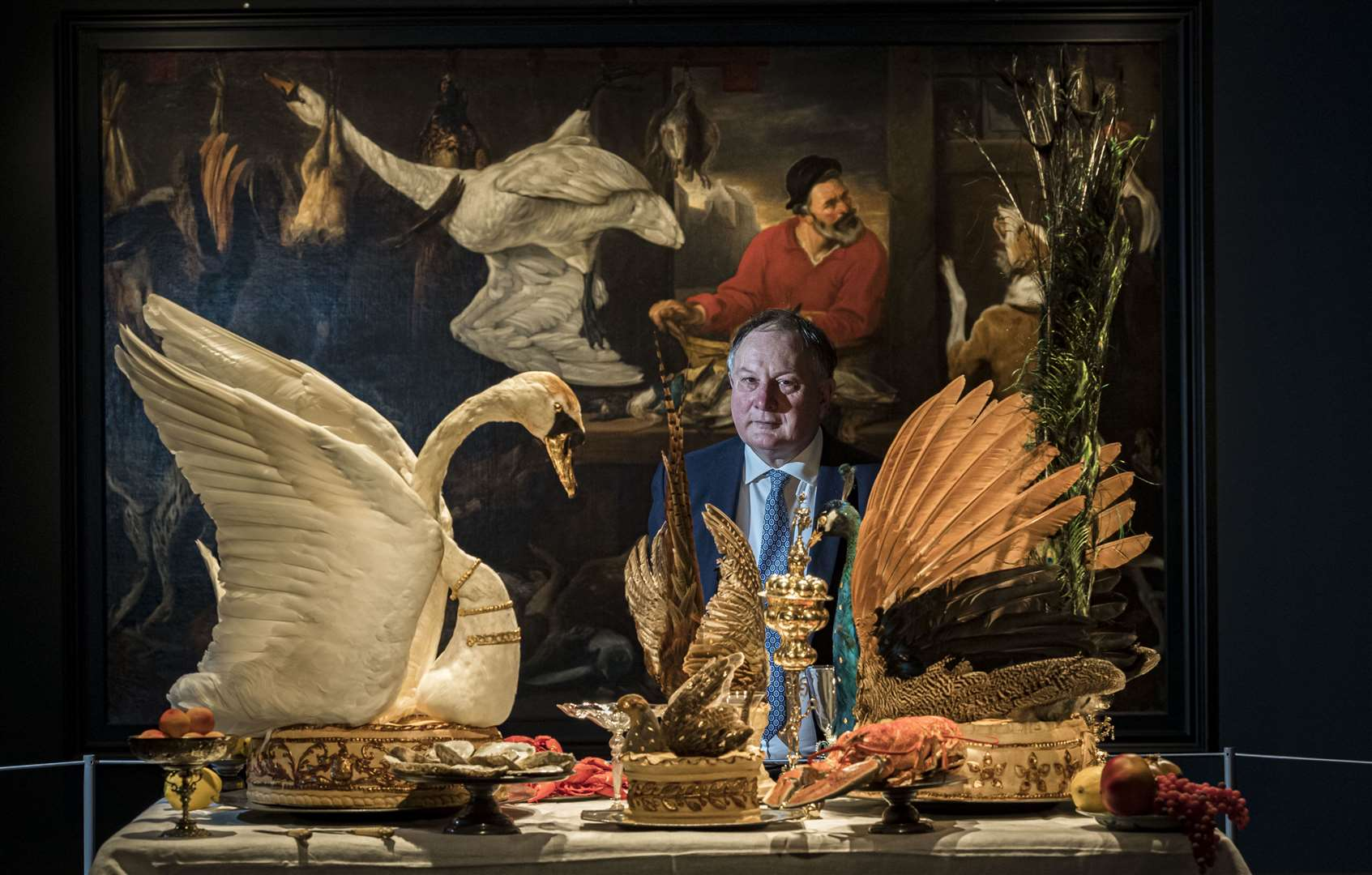 Feast & Fast at the Fitzwilliam Museum, internationally renowned food historian, Ivan Day. Picture: Keith Heppell. (22245161)