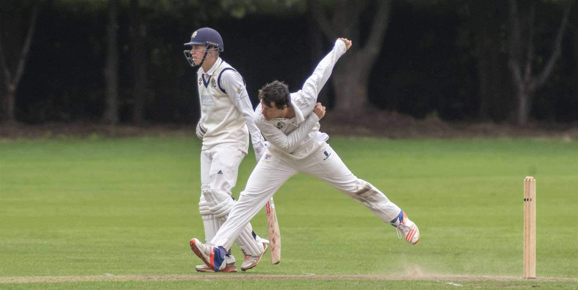 Henry Campbell was in the wickets for Cambridge. Picture: Keith Heppell