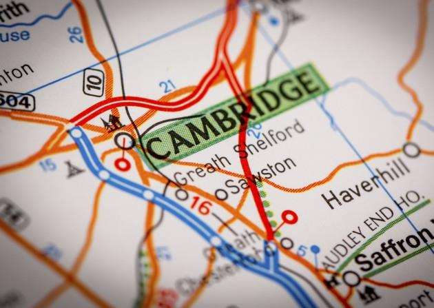 Map Photography: Cambridge City on a Road Map