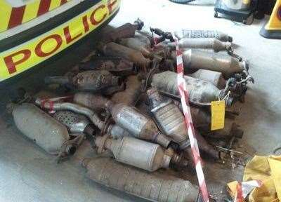 Catalytic converters. Image supplied by Lincs Police. (14627106)